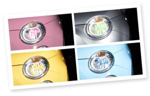 vendita fari auto colorati philips colorvision