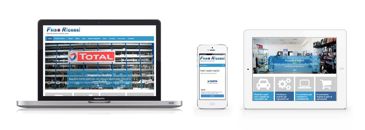 il nuovi sito web falbo ricambi funziona su tutti i dispositivi