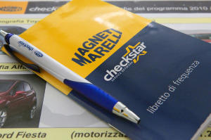 materiale marketing per le officine magneti marelli checkstar